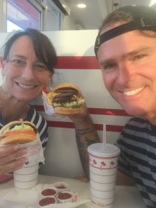 Kelli & I enjoying 'In-N-Out'